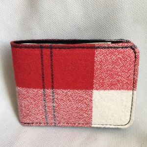 Other - Wallet Flannel wool and black leather interior
